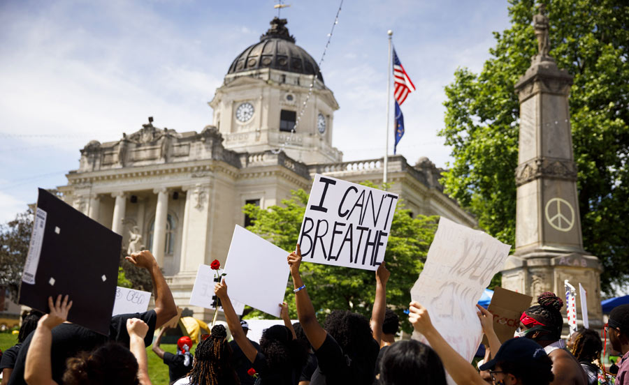 Black Lives Matter march in Bloomington, Indiana